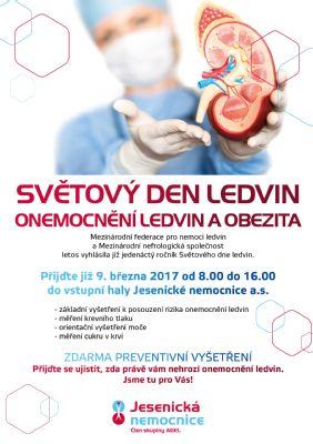 Světový den ledvin v Jesenické nemocnici