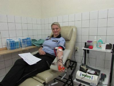 Osmadvacet policistů darovalo krev v Jesenické nemocnici